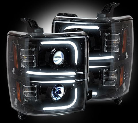 Projector Head Lights - Smoked