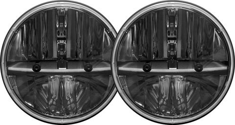 7 INCH ROUND HEADLIGHT WITH H13 TO H4 ADAPTOR PAIR