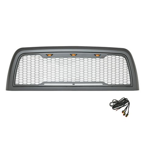 ABS LED Metallic Charcoal Gray Impulse Mesh Packaged Grille