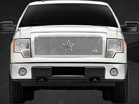 RX Series Chrome Studded Frame Main Grille, (1 Piece)