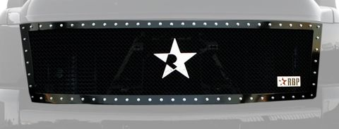 RX Series Black Studded Frame Main Grille, (1 Piece)
