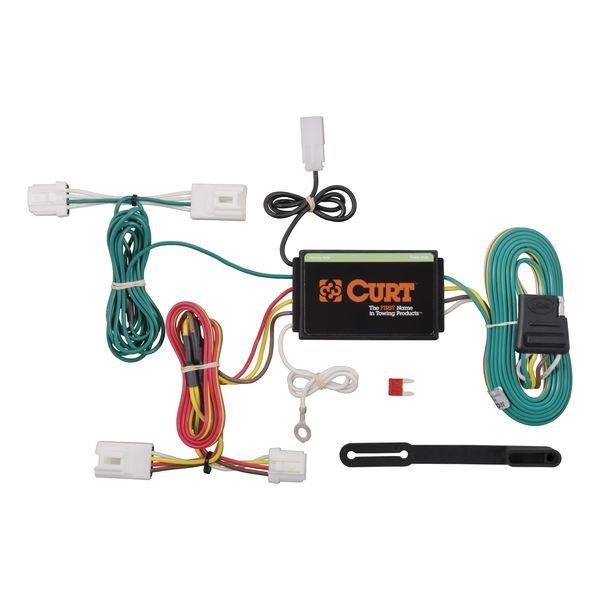 Custom Wiring Harness (4-Way Flat Output) | #CUR55571 | E ... on trailer plugs, trailer hitch harness, trailer mounting brackets, trailer generator, trailer fuses, trailer brakes,