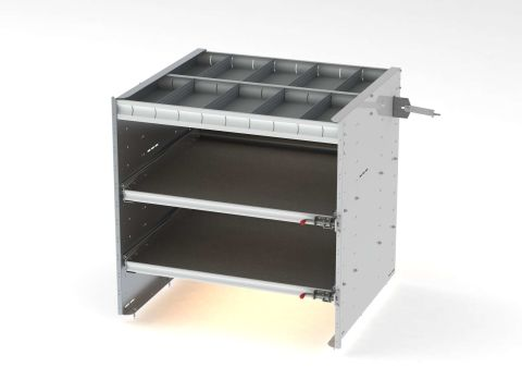 Axess Tray With 1 Shelf/2 Drawers