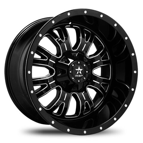 Assassin 20x10 5-139.7 et neg 25 Gloss Black with Machined Grooves 78mm cb