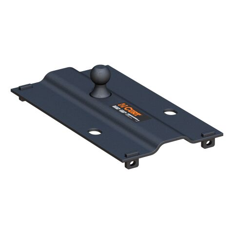 Bent Plate 5th Wheel Rail Gooseneck Hitch with 2-5/16in. Ball; 25K (3in. Offset)