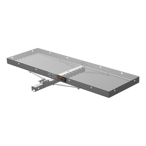 60in. x 20in. Aluminum Tray-Style Cargo Carrier (Folding 2in. Shank; 500 lbs.)