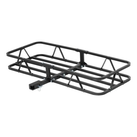 48in. x 20in. Black Steel Basket Cargo Carrier (1-1/4in.; 2in. Adapter; 500 lbs.