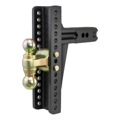 Adjustable Channel Mount; Dual Ball (2-1/2in. Shank; 20;000 lbs.; 10-3/8in. Drop