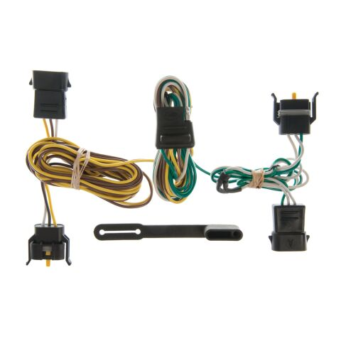 Custom Wiring Harness; 4-Way Flat Output; Select Ford; Lincoln; Mercury Vehicles