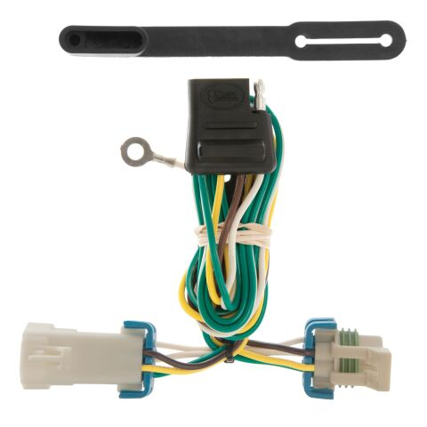 Custom Wiring; 4-Way Flat; Select Chevrolet S-10; GMC Sonoma; Isuzu Hombre