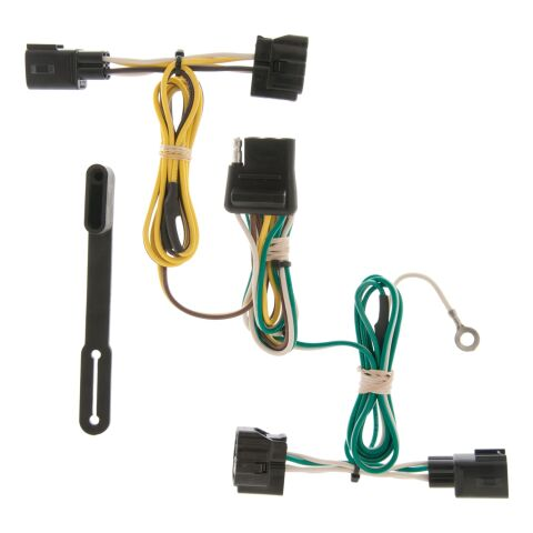 Custom Wiring Harness; 4-Way Flat Output; Select Jeep Wrangler TJ