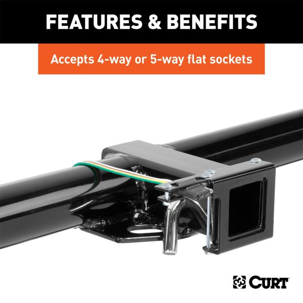 Easy-Mount Wiring Bracket for 4 or 5-Way Flat (2in. Receiver) | #CUR58001 |  E-Custom Auto™E-Custom Auto