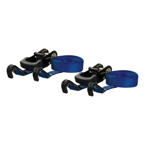 16ft. Blue Cargo Straps with J-Hooks (733 lbs; 2-Pack)