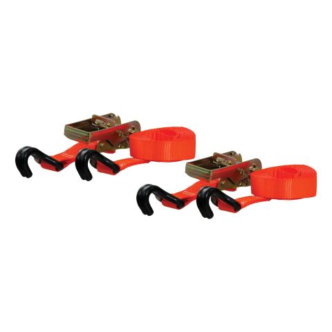 16ft. Orange Cargo Straps with J-Hooks (1;100 lbs; 2-Pack)