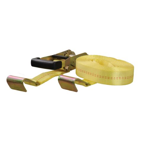 27ft. Yellow Cargo Strap with Flat Hooks (3;333 lbs.)