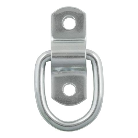 1in. x 1-1/4in. Surface-Mounted Tie-Down D-Ring (1;200 lbs; Clear Zinc)