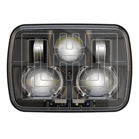 LED Headlights -- Model 8910 Evolution 2 Black Heated