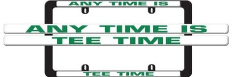 License Plate Frame - Achieve a Natural High Play Hockey