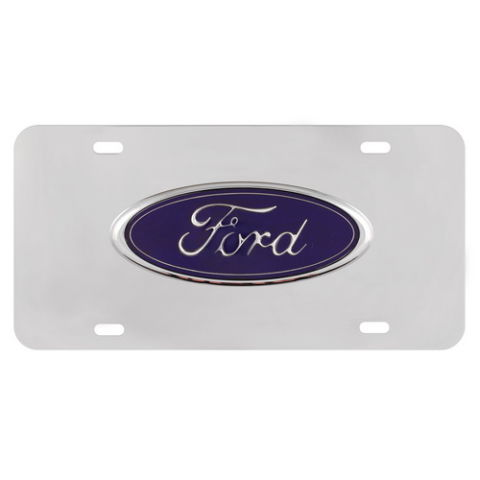 FORD CHROME 3D LICENSE PLATE