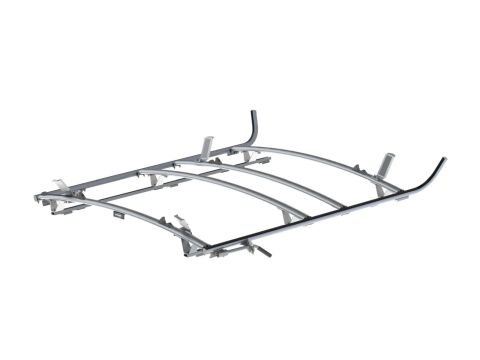 Combination Ladder Rack, Aluminum, 3 Bar, Ram ProMaster 159 Wheelbase