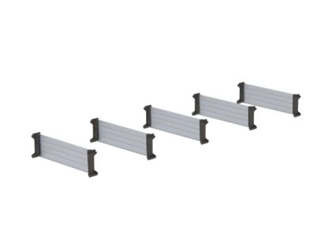 Van Shelving Set of Dividers with Clips, 10 depth