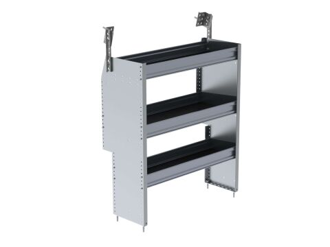 P4 Series Cargo Van Shelving, 36 Wide, 3 Trays - Promaster City