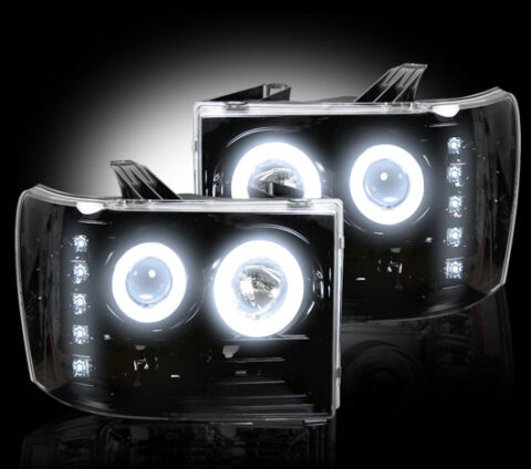 Projector Head Lights - Smoked / Black