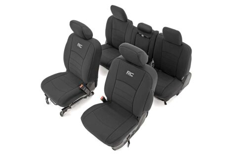 Ram Neoprene Front & Rear Seat Covers (09-18 1500 / 10-18 2500/3500)