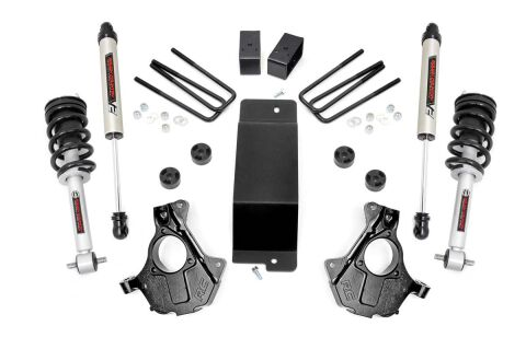 3.5in GM Suspension Lift | Knuckle Kit w/ Struts & V2 Monotube (14-18 1500 PU 4wd | Aluminum & Stamped Steel)