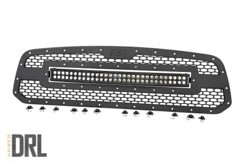 Ram Mesh Grille | 30in Dual Row Black Series LED w/ Amber DRL (13-18 1500)