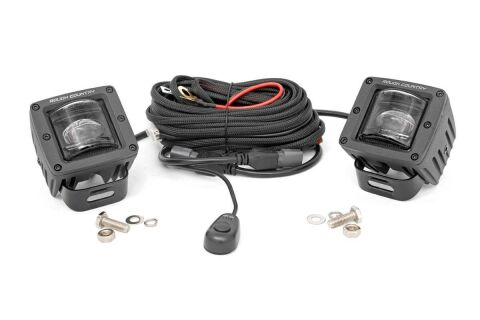 2-inch Square LED SAE Fog Lights - (Pair)