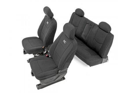 GM Neoprene Front & Rear Seat Covers | Black [14-18 1500]