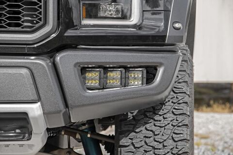Ford Triple LED Fog Light Kit | Black Series (17-20 F-150 Raptor)