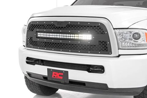 Ram Mesh Grille w/30in Dual Row Black Series LED (13-18 2500/3500)