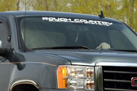 ROUGH COUNTRY WINDOW DECAL (35IN) - WHITE