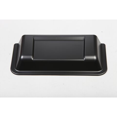 This black plastic cowl vent scoop from Rugged Ridge fits 98-18 Jeep Wrangler.