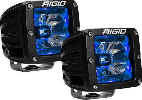 RIGID Radiance Pod With Blue Backlight; Surface Mount; Black Housing Pair