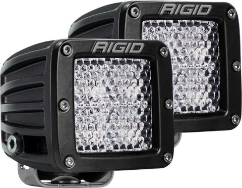 RIGID D-Series PRO LED Light; Diffused Lens; Surface Mount Pair