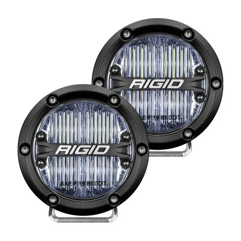 RIGID 360-Series DOT/SAE J583 4 Inch White LED Fog Light; Pair