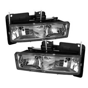 (xTune ) Chevy C/K Series 1500/2500/3500 88-99 Crystal Headlights - Chrome
