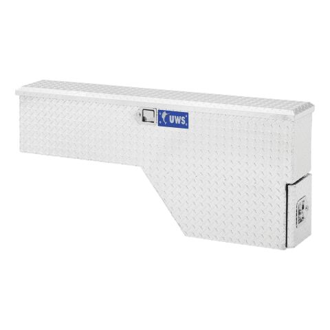 Bright Aluminum 48in. Driver-Side Truck Fender Tool Box (LTL Shipping Only)