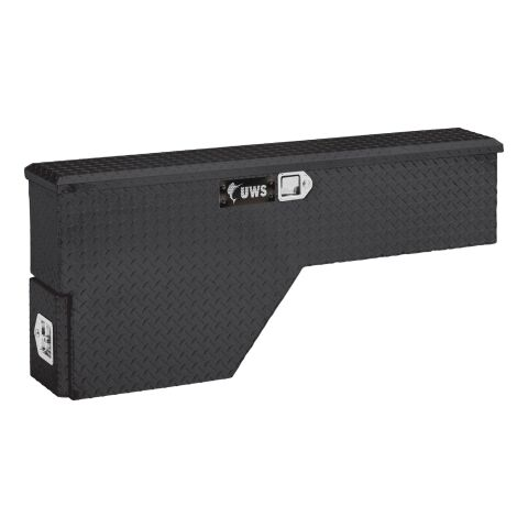 Bright Aluminum 48in. Passenger-Side Truck Fender Tool Box (LTL Shipping Only)