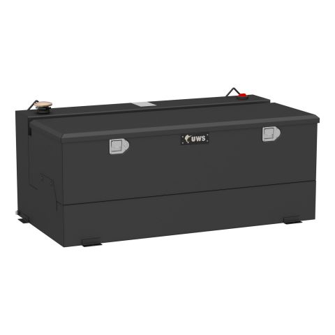 Matte Black 100-Gallon Steel-Aluminum Combo Transfer Tank