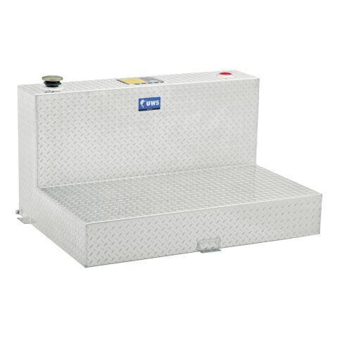 100-Gallon L-Shape Bright Aluminum Transfer Tank