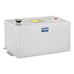 100-Gallon Rectangle Bright Aluminum Transfer Tank