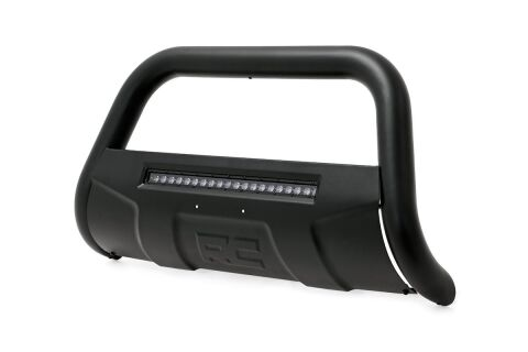 Toyota Bull Bar w/LED Light Bar | Black (16-19 Tacoma)