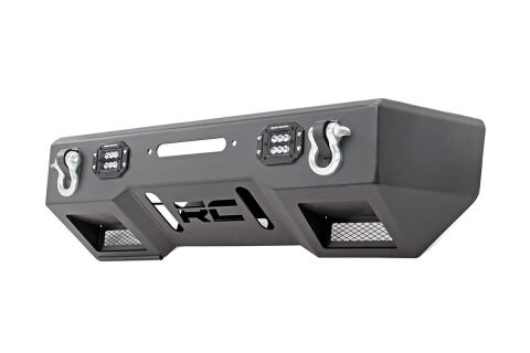 Front Stealth Stubby Winch Bumper w/ Black Series LED Lights