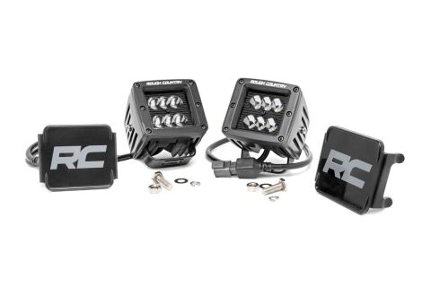 2-inch Black Series CREE LED Square Lights (Pair)
