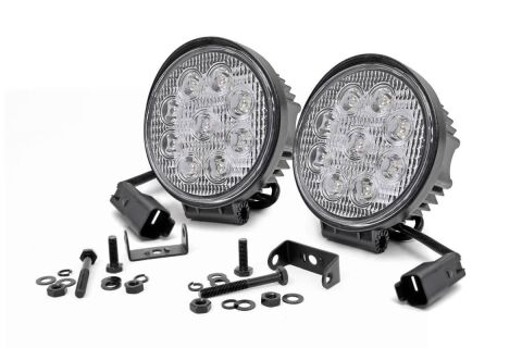 4-inch LED Round Lights (Pair)