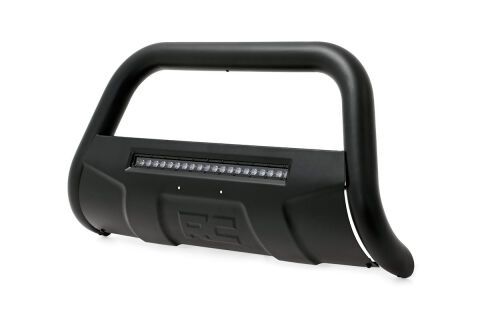 Toyota 07-19 Tundra Bull Bar w/LED Light Bar (Black)